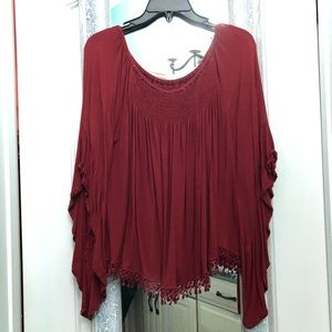 Angel sleeved blouse